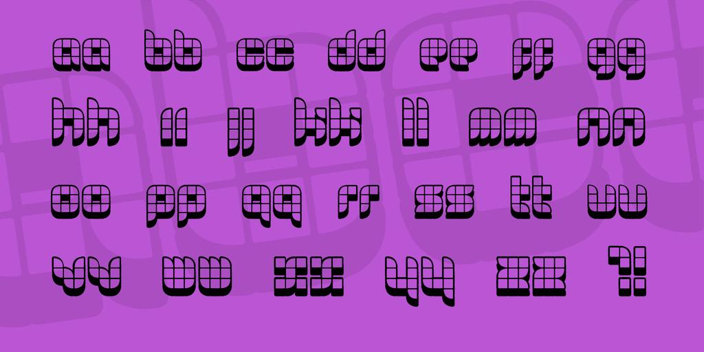 06 29 Font 3D幾何字型下載