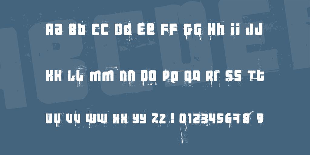 3 theHard way RMX Font 油墨鋼印字型下載