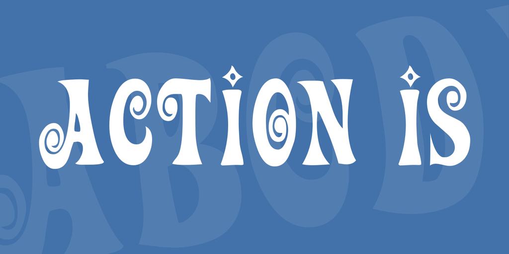 Action Is Font 可愛時髦字型下載