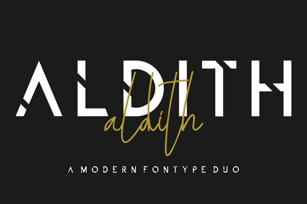 ALDITH Font Family 歐美拼接字型下載