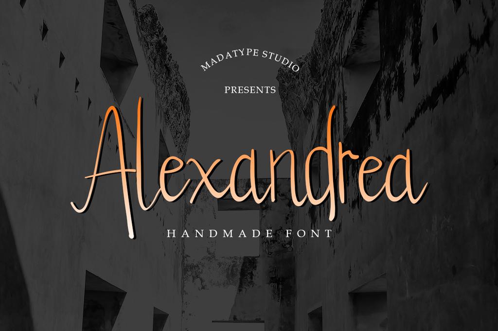 Alexandrea Font 復古手寫字型下載