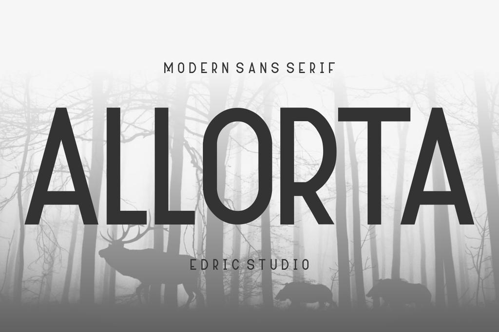 Allorta Font Family 封面藝術字型下載