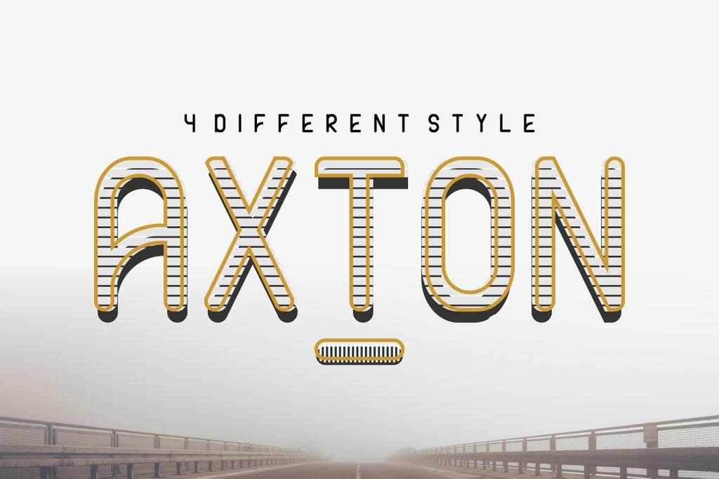 AXTON Font Family 國外設計款字型下載