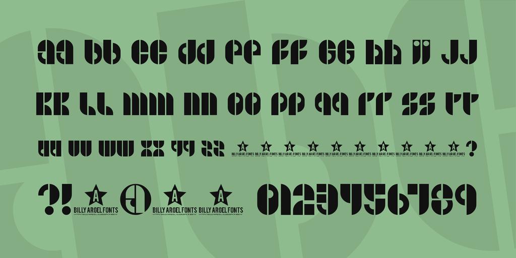 B SIDE Font 復古時髦字型下載