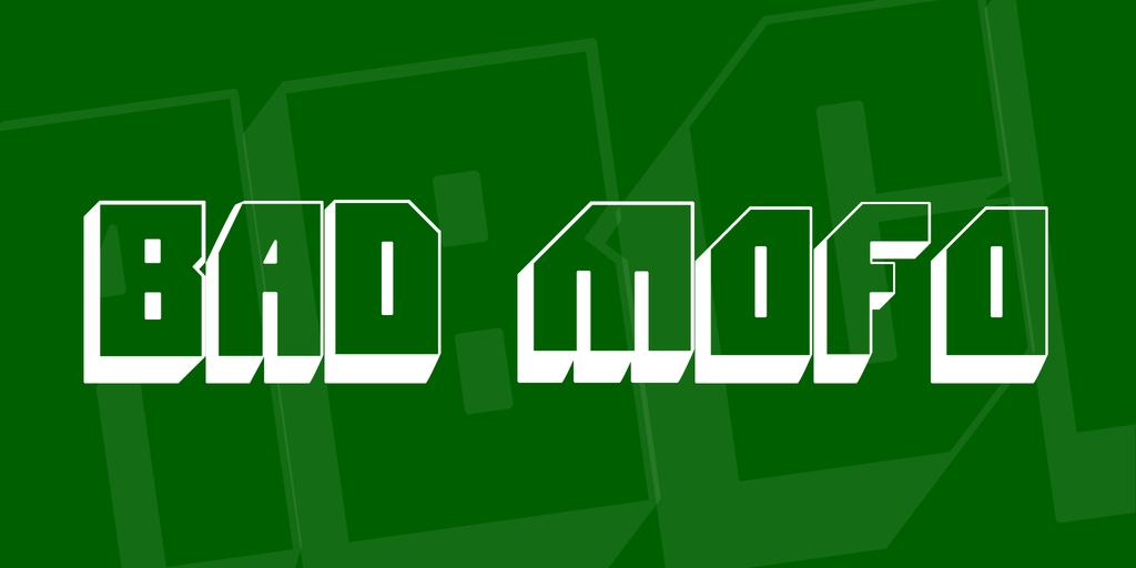 Bad Mofo Font 3D立體字型下載 字型下載