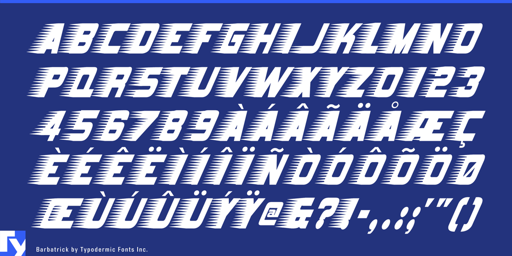 Barbatrick Font 速度感字型下載