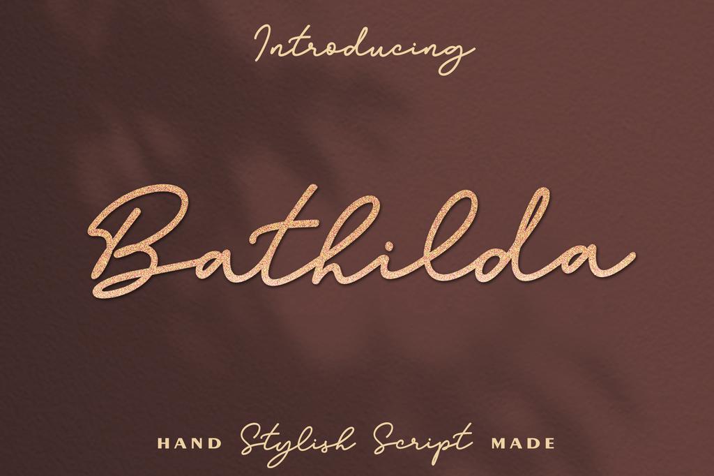Bathilda Font 時尚簽名字型下載