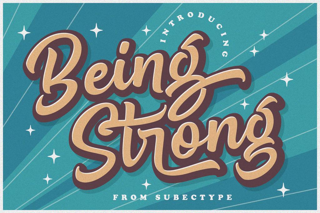 Be Strong Font 可愛俏皮字型下載
