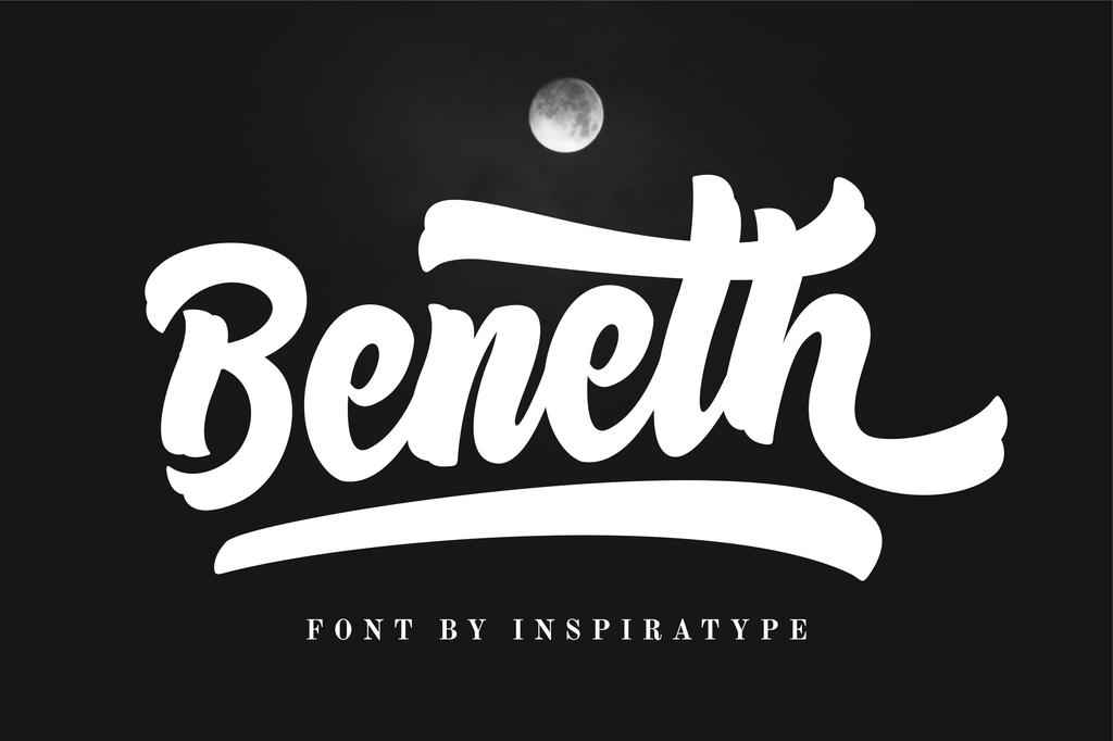 Beneth FREE Font 英文書法字型下載
