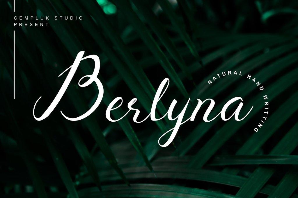 Berlyna Demo Font 優雅書法字型下載