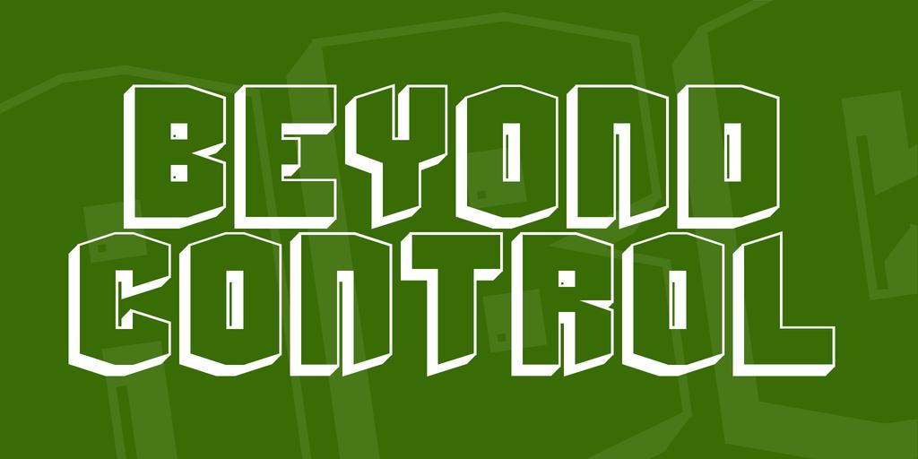 Beyond Control Font 可愛立體字型下載 字型下載