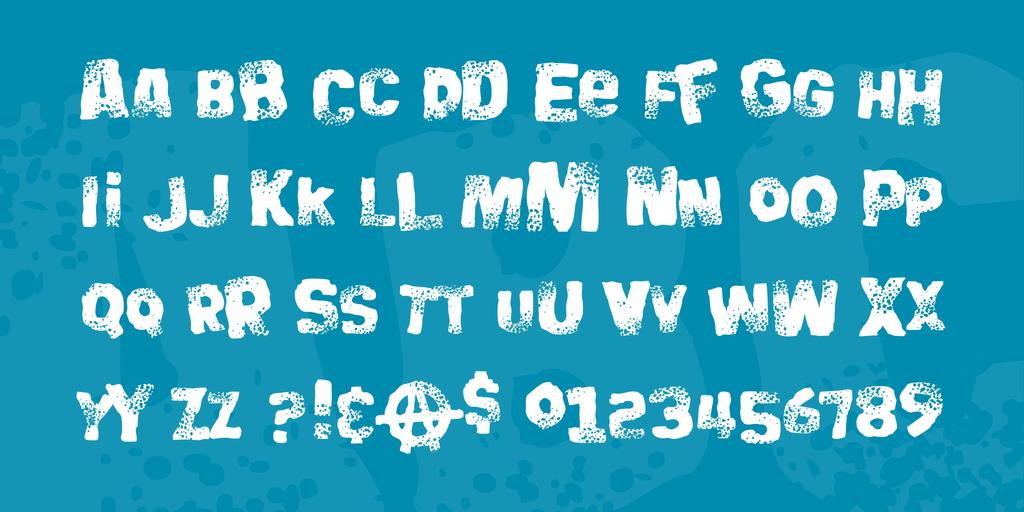 Big Bloke BB Font 搖滾標題字型下載