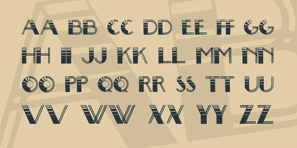 Big Lou Font 復古線條字型下載