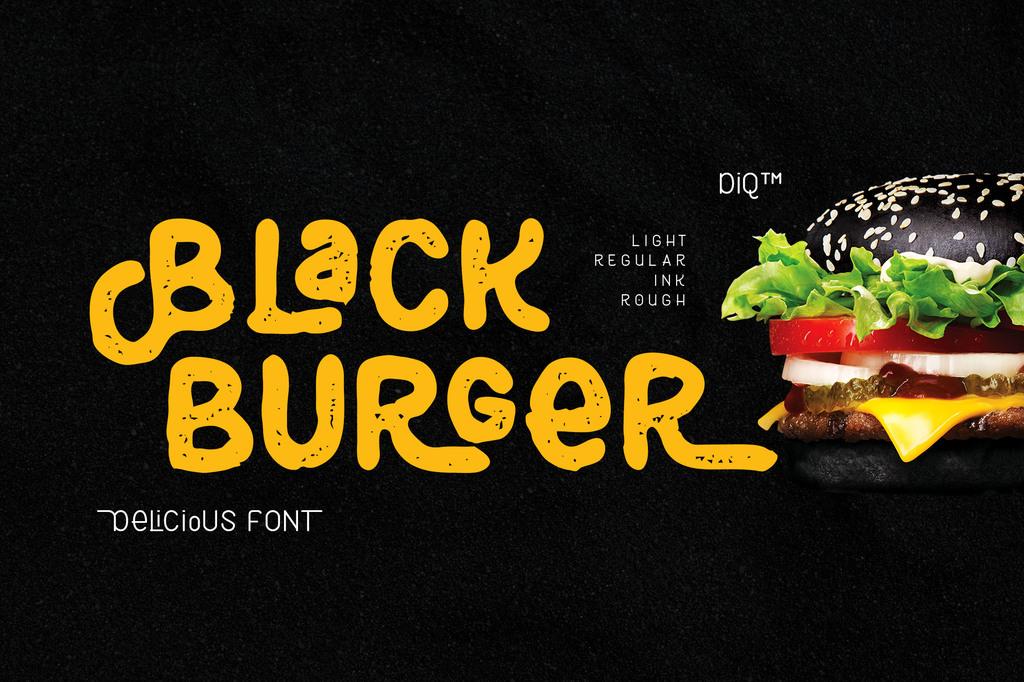 Black Burger Font 手寫餐飲字型下載