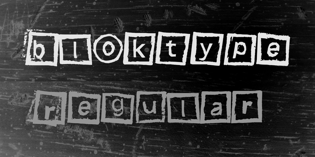 Bloktype Font 橡皮蓋章字型下載