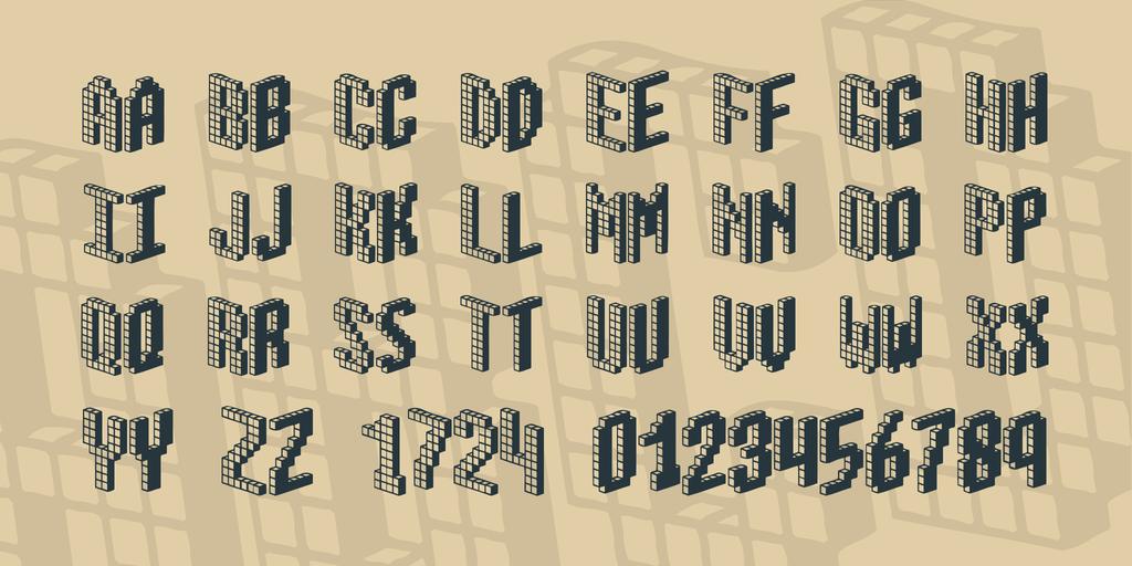 Blox BRK Font 3D海報字型下載