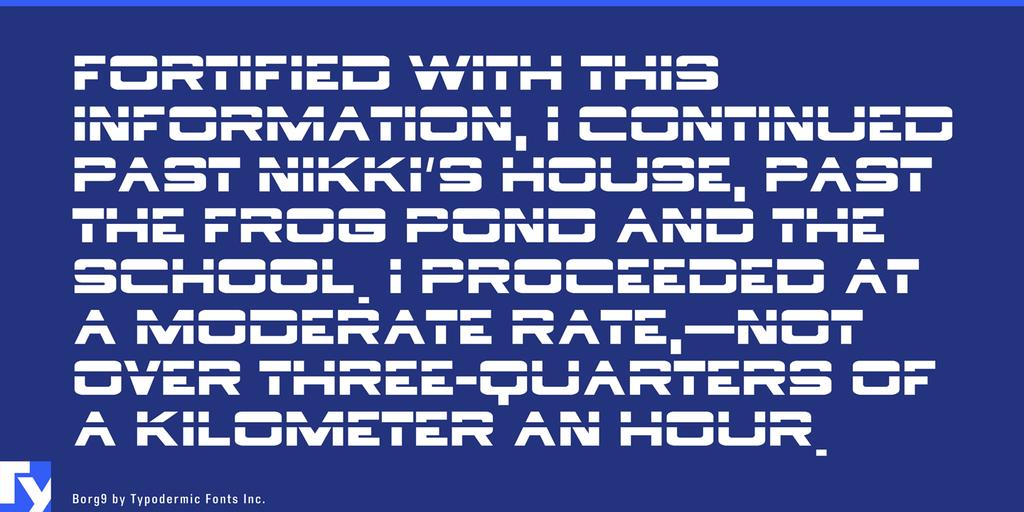 Borg 9 Font 海報拼接字型下載
