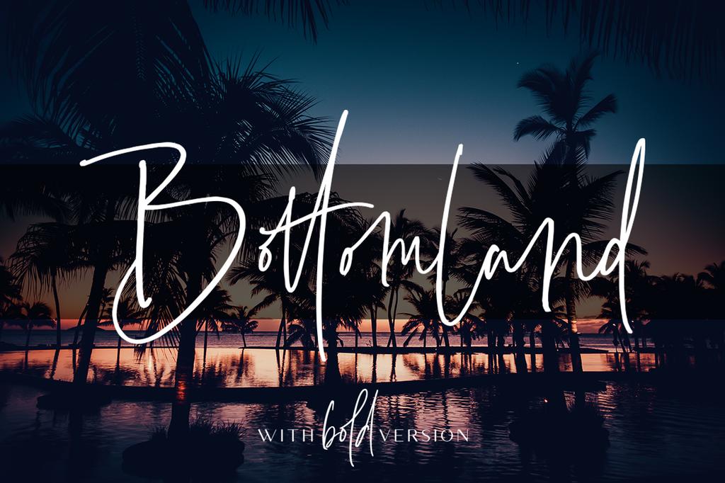 Bottomland Font 英文簽名字型下載