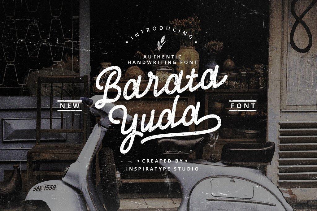 Bratayuda FREE Font 手寫復古字型下載