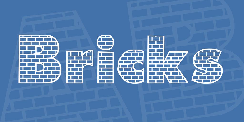 Bricks Font 磚塊字型下載