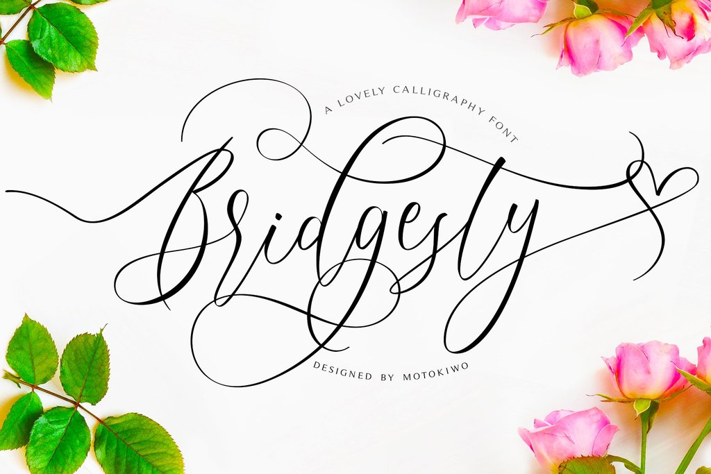 Bridgesty Font 設計師簽名字型下載