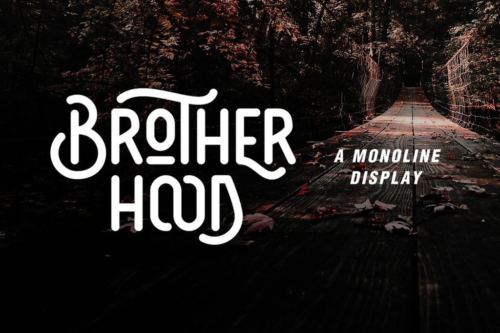 Brotherhood Font 復古標誌字型下載