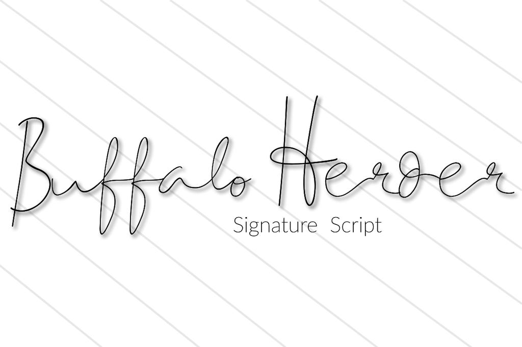 BuffaloHerder Font 手寫英文字型下載