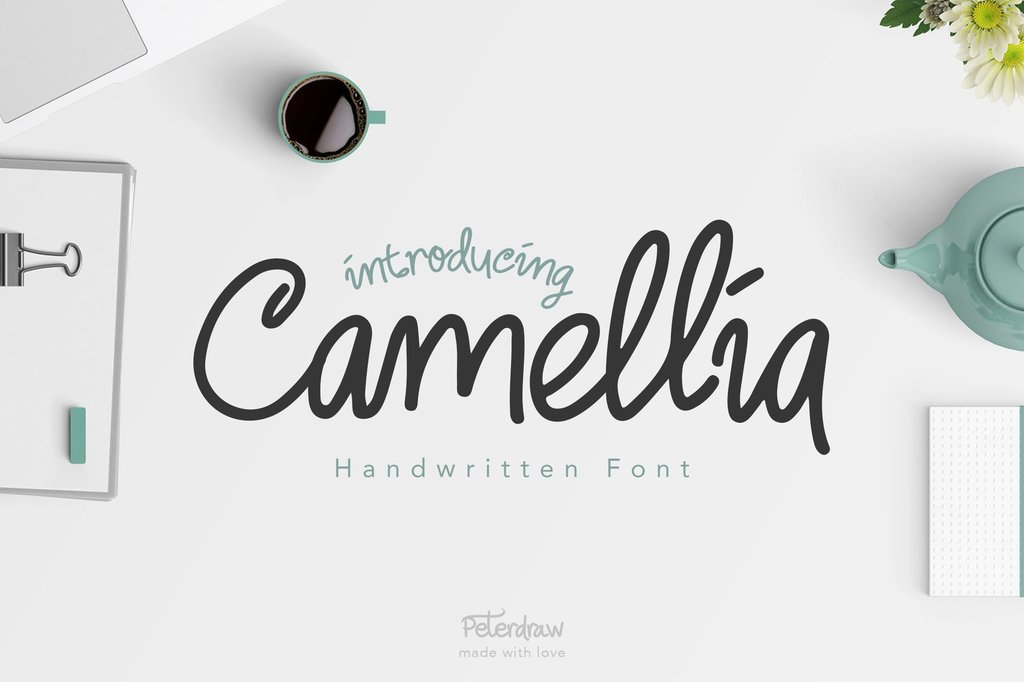 Camellia Font 品牌手寫字型下載