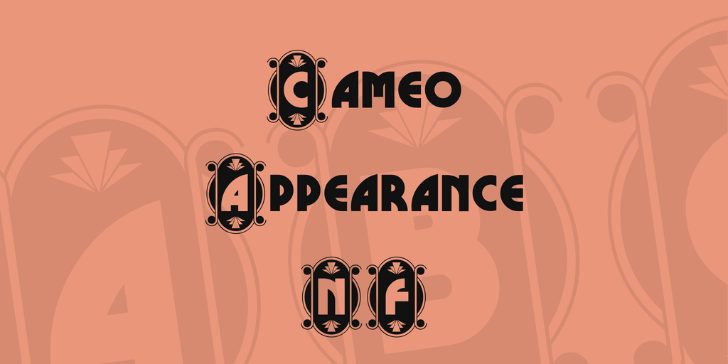 Cameo Appearance NF Font 20世紀字型下載