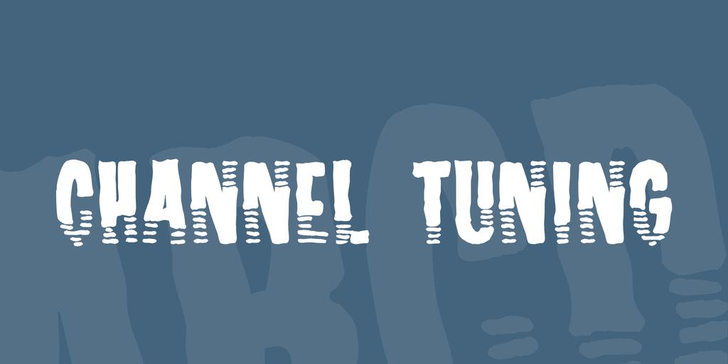 Channel Tuning Font 頻道訊號字型下載