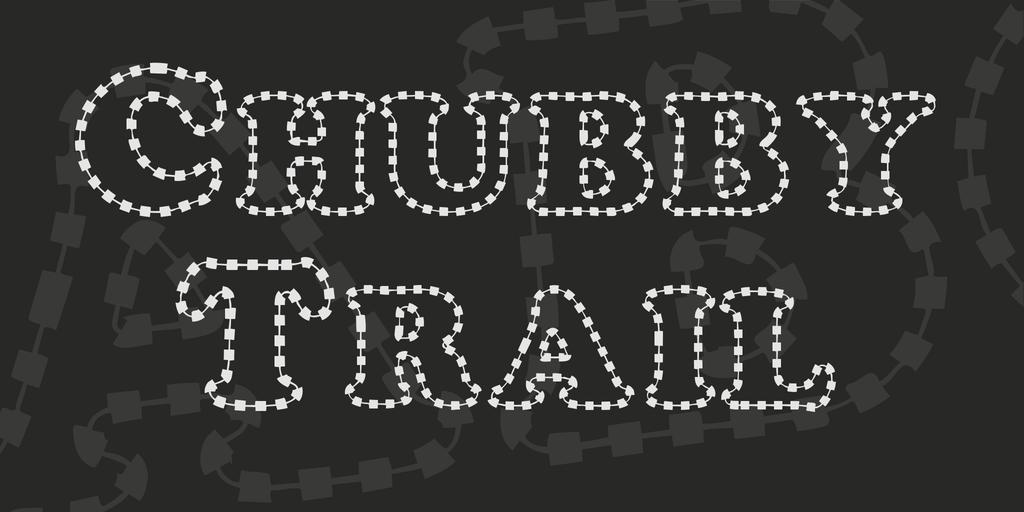 Chubby Trail Font 刺繡字型下載