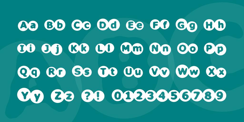 Circulate BRK Font 圓形海報字型下載