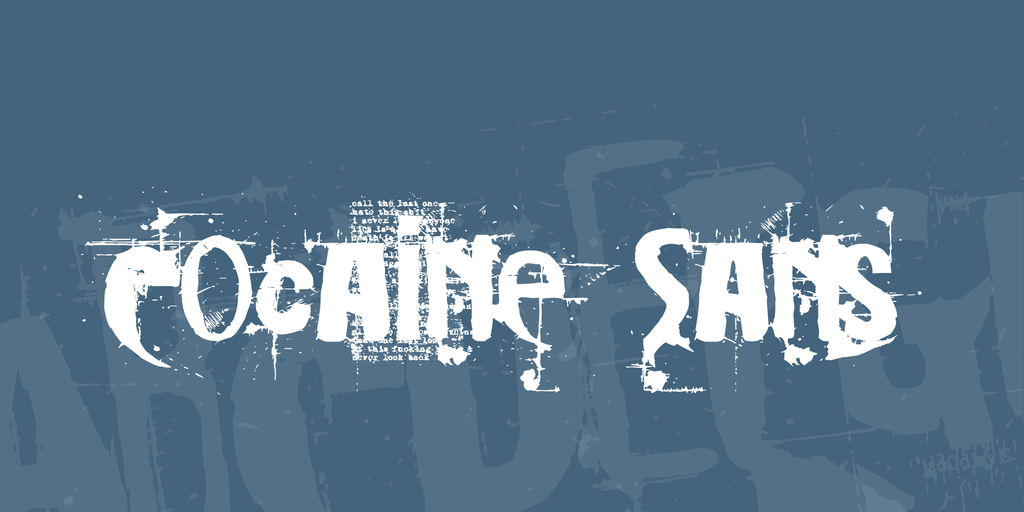 Cocaine Sans Font 藝術噴墨字型下載