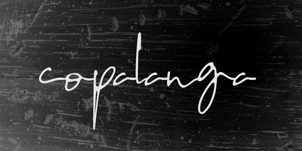 copalanga Font Family 手寫簽名字型下載