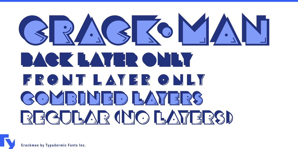 Crack Man Font Family 可愛遊戲字型下載