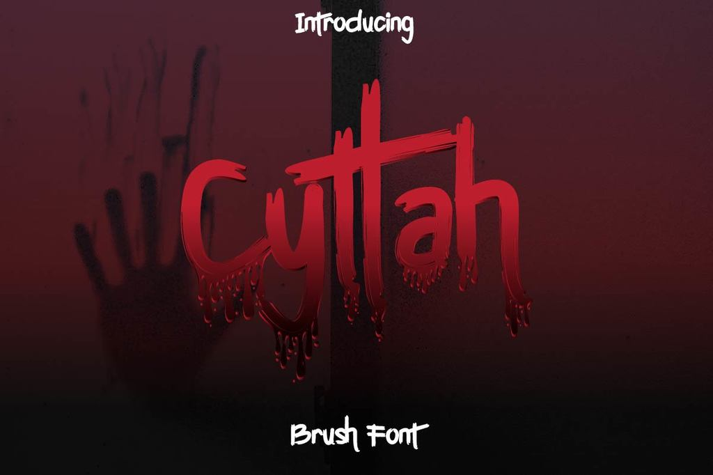 Cyttah Font Family 可怕血腥字型下載