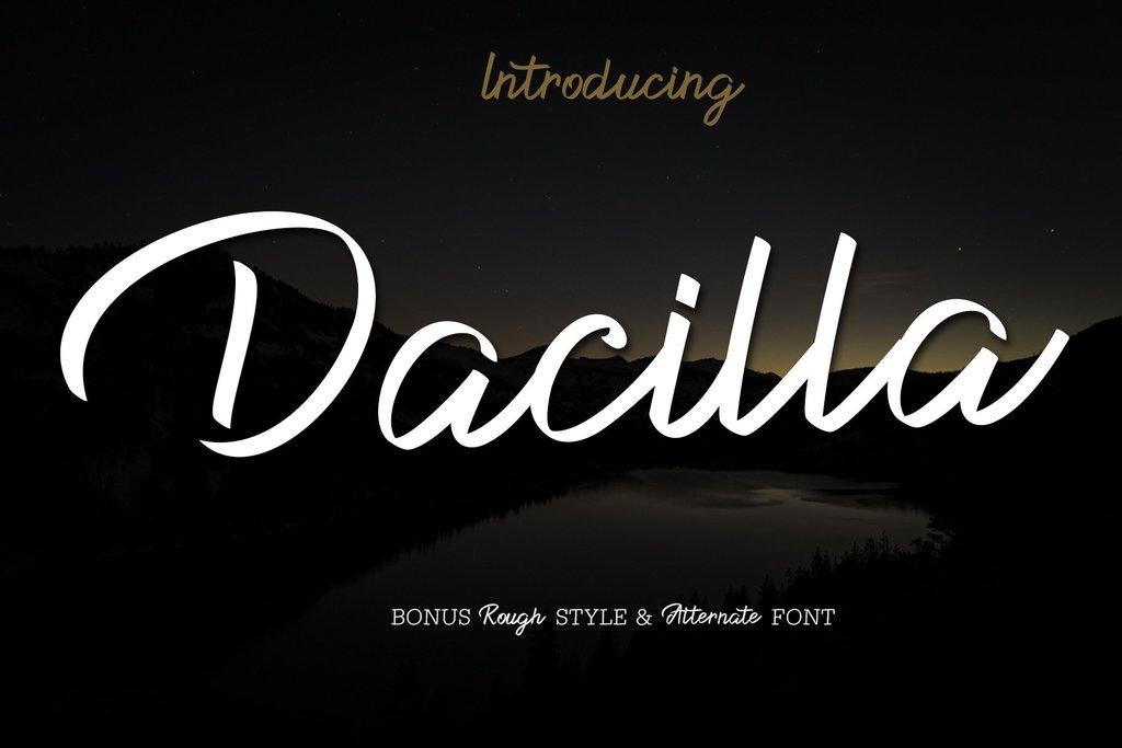 Dacilla Script Demo Font 草寫標題字型下載