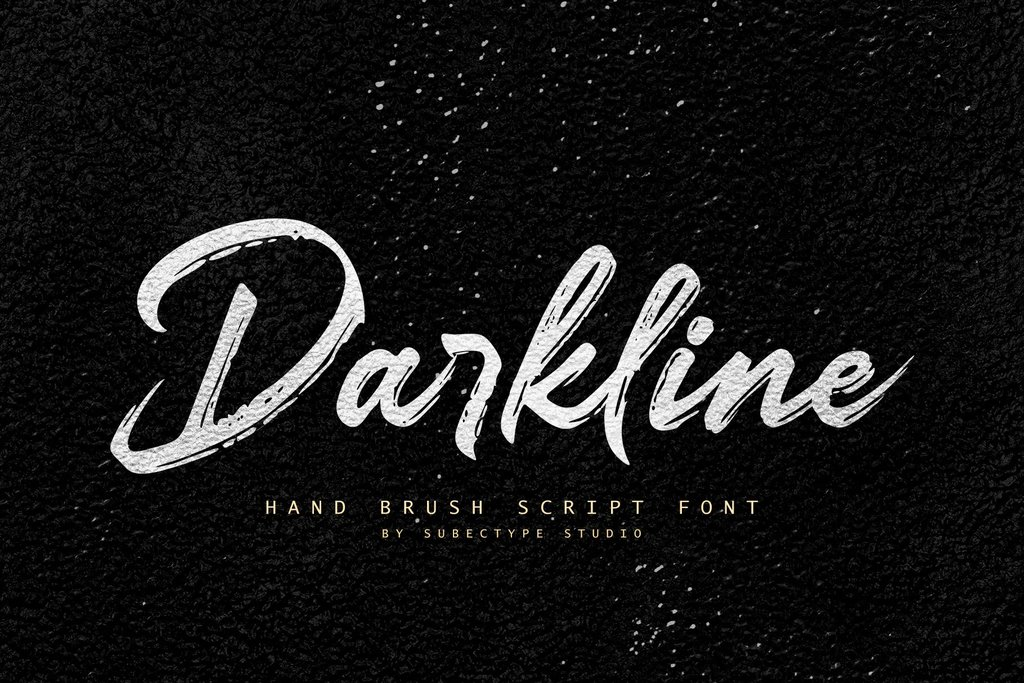 Darkline Font 美式書法字型下載