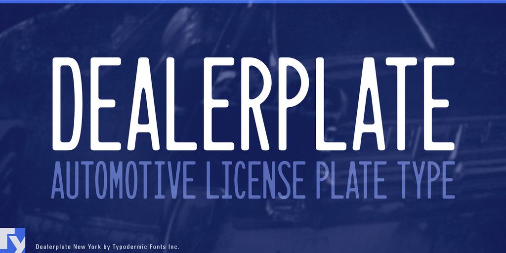 Dealerplate Font 汽車車牌字型下載