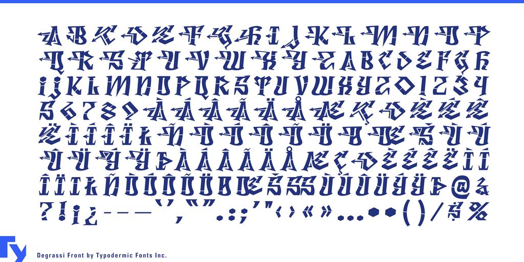 Degrassi Font Family 塗鴉靈感字型下載