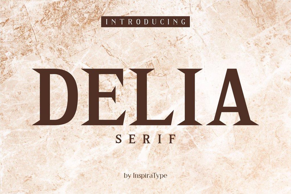 DELIA Font Family 英文時尚字型下載