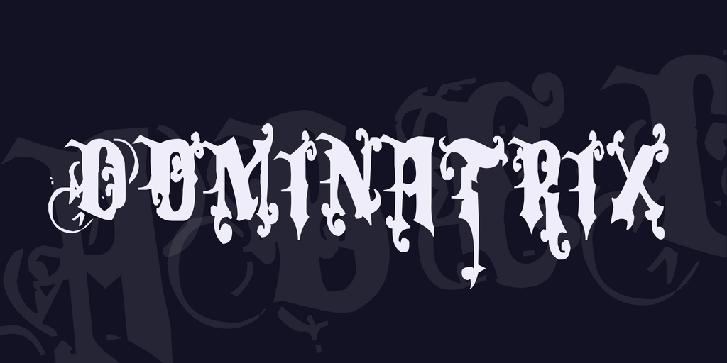 Dominatrix Font 萬聖節恐怖字型下載