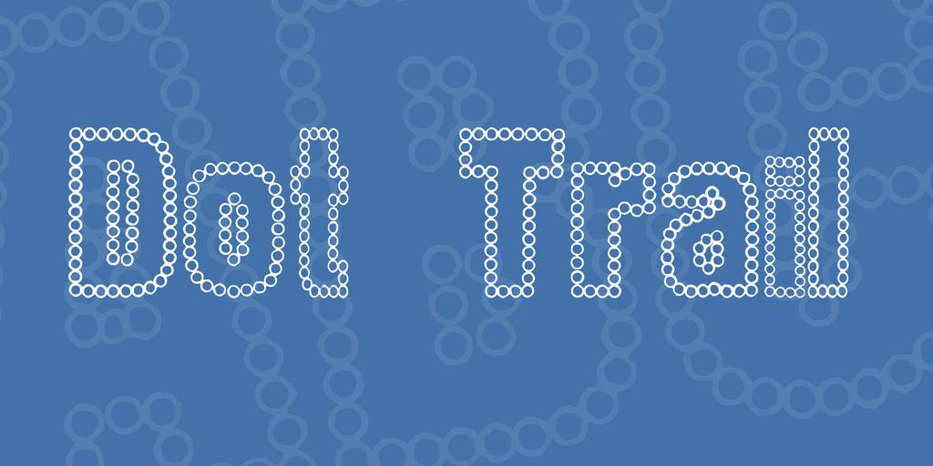 Dot Trail Font 可愛點點字型下載