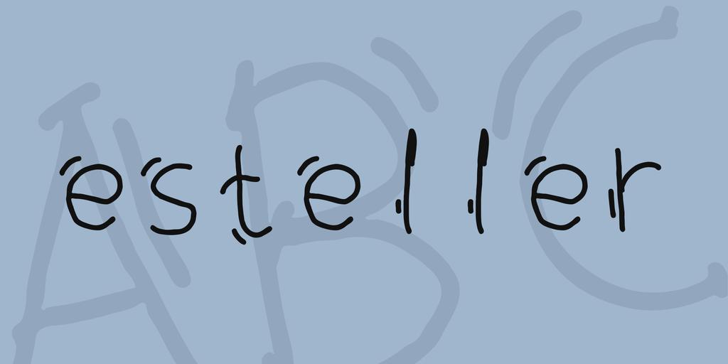 esteller Font 手寫趣味字型下載