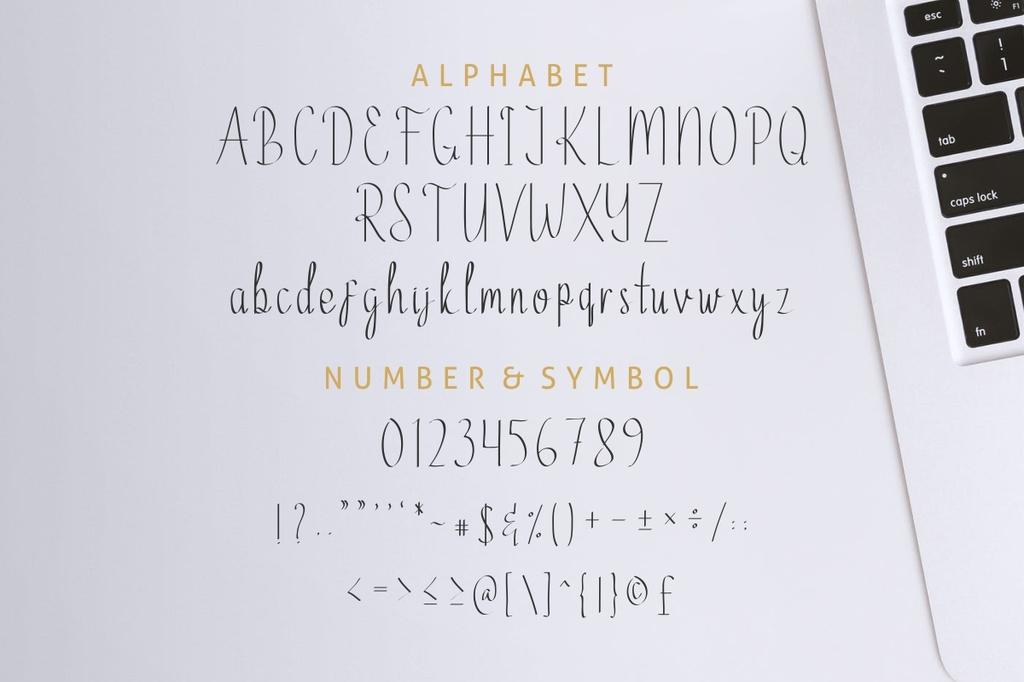 Ethelyne Font Family 英文手寫書法字型下載