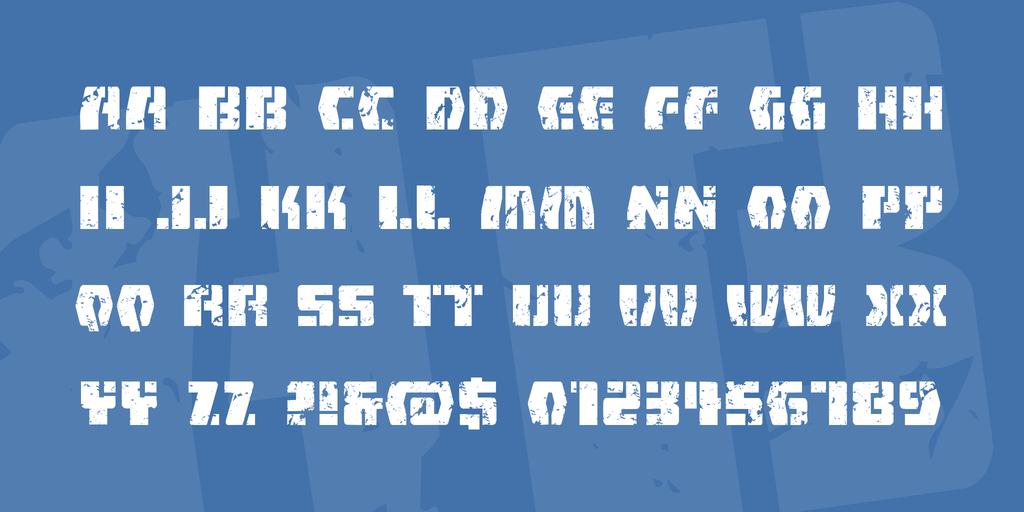 FireFight BB Font 外星人字型下載