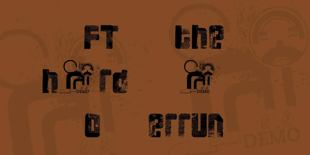 FT 3 the hard way Overrun Font 網點印刷字型下載