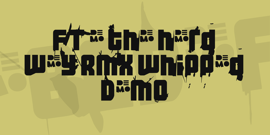 FT 3 the hard way RMX whipped DEMO Font 怪異海報字型下載