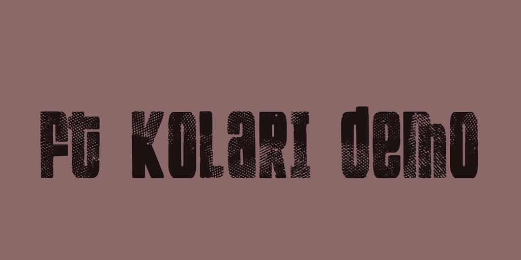 FT Kolari demo Font 特殊印刷字型下載
