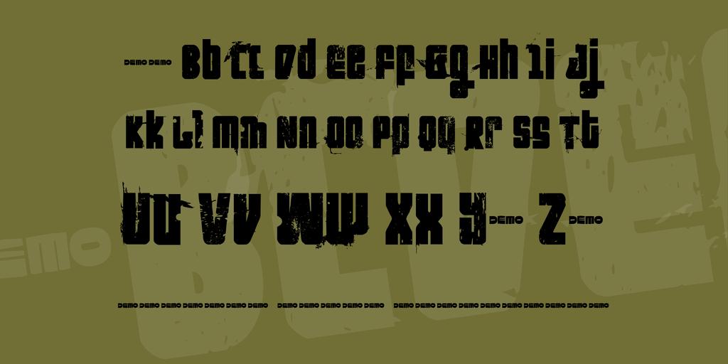 FT Nihilist Philosophy Font 電影海報字型下載